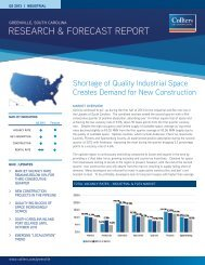 Colliers International, 2013 2nd Quarter Greenville Industrial Report