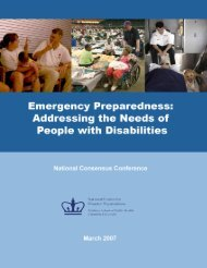Addressing the Needs of People with - The National Center for ...