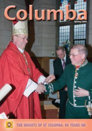 Spring 2009 - Knights of St Columba
