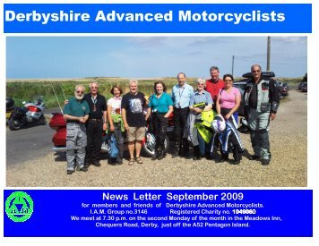 Sept 09 - Derbyshire Advanced Motorcyclists