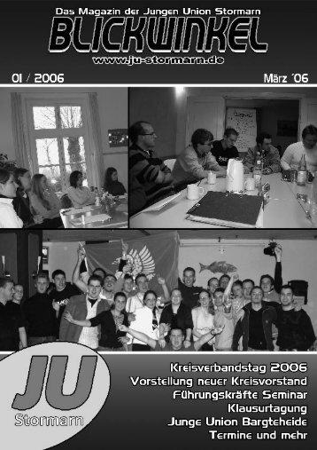 Blickwinkel Ausgabe 01 / 2006 - JU Stormarn