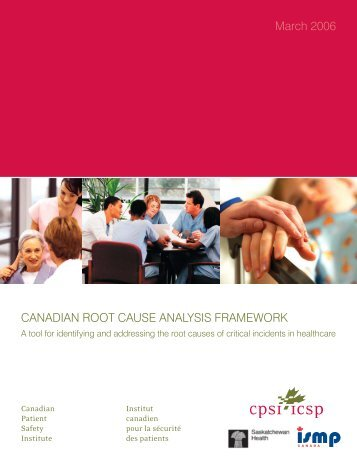 CPSI, Root Cause Analysis Workbook - Paediatric Chairs of Canada