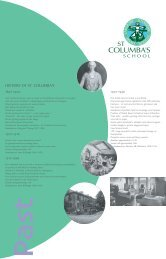 HISTORY OF ST. COLUMBA'S - St Columba's School