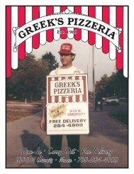 Menu - Greek's Pizzeria