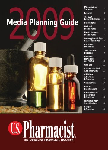 Download the 2009 Media Planning Guide PDF - US Pharmacist