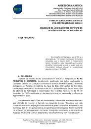 Parecer Jurídico - CBH Doce