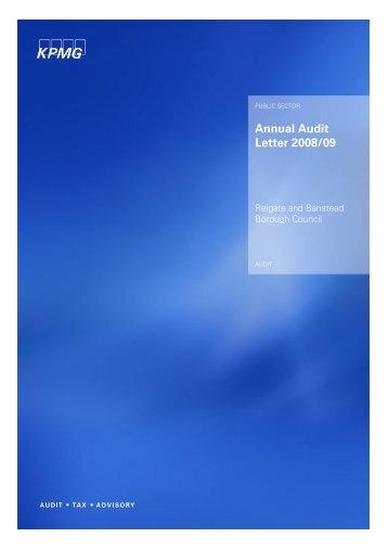 Annual Audit Letter 2008/09 - Reigate and Banstead Borough Council