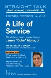 A Life of Service - him online