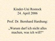 Download Vorlesungsunterlagen (PDF, 193kB) - Kinder-Uni Rostock