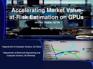 Accelerating Market Value atrisk Estimation on Gpus