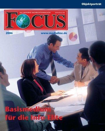 FOCUS - Basismedium für die Info-Elite - FOCUS MediaLine