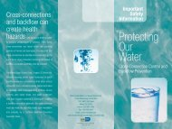 Protecting Our Water: Cross-Connection Control and Backflow