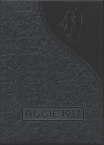 Aggie 1937 - Yearbook