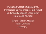 PulsaHng GalacHc Classrooms, Immersion ... - CERCLL
