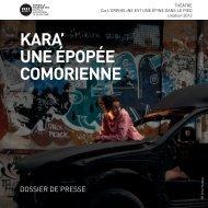 kara' une épopée comorienne - Marseille Provence 2013
