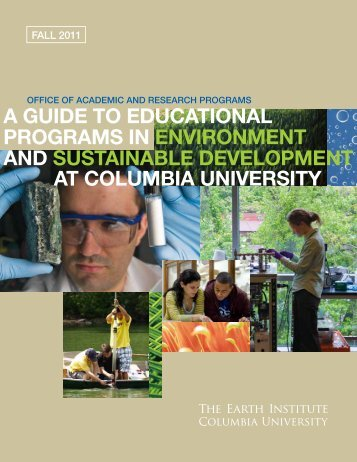 a guide to educational programs in environment and sustainable ...