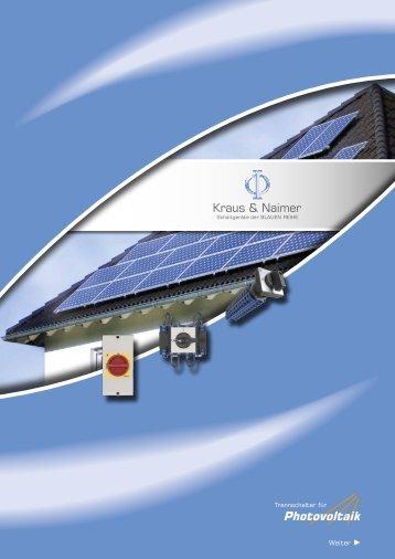 Photovoltaik - Kraus & Naimer