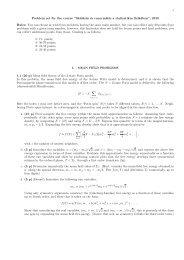 """1 Problem set for the course """"Skálázás és renormálás a statisztikus ..."""