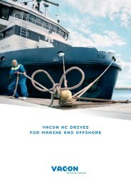 vacon ac drives for marine and offshore - VEM motors Finland Oy