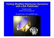 Testing Modified Newtonian Dynamics with LISA Pathfinder