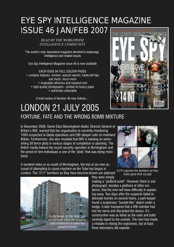 46 CONTENTS BLACK - Eye Spy Intelligence Magazine