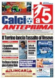 calcio a 5 anteprima 3/08