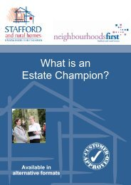 What is an Estate Champion? (470.2kb) - Stafford and Rural Homes