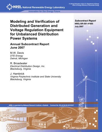 implementation of distributed generation in the