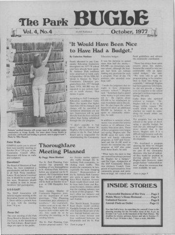 October 1977 - Park Bugle