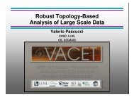 Robust Topology-Based Analysis of Large Scale Data - of Valerio ...