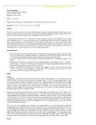 Surat Keputusan Menteri Kehutanan Nomor - coremap