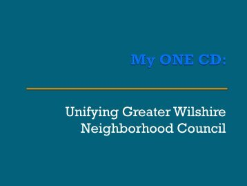 GWNC Redistricting Presentation - The Greater Wilshire ...