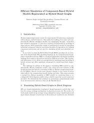 Efficient Simulation of Component-Based Hybrid Models ... - CiteSeerX