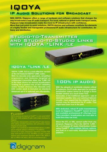 Studio-to-Transmitter and Studio-to-Studio Links with ... - Audiopole