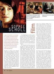 Sophie Scholl gehörte zu den wenigen, die sich gegen die ... - Ethos