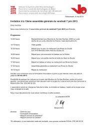 Invitation à la 13ème assemblée générale du vendredi 7 juin 2013