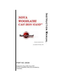 Nova Woodlathe Cast Iron Stand - Teknatool