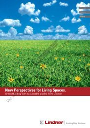 New Perspectives for Living Spaces. - Lindner Group
