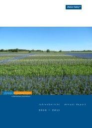 Jahresbericht 2010-11 - ls.bcv.org - BioCon Valley GmbH