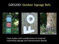 GDES2001 Outdoor Signage Refs
