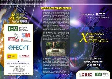 program - Instituto de Estructura de la Materia