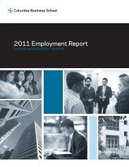 2011 Employment Report - Columbia Business School