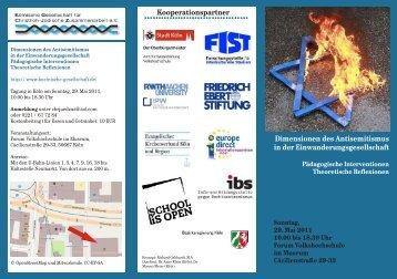 Dimensionen des Antisemitismus in der Einwanderungsgesellschaft ...