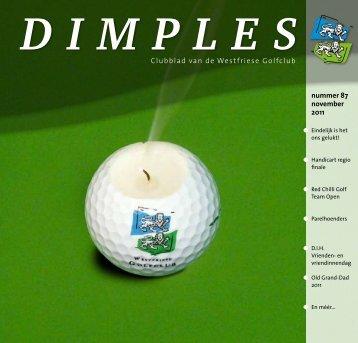 nummer 87 november 2011 Clubblad van de Westfriese Golfclub