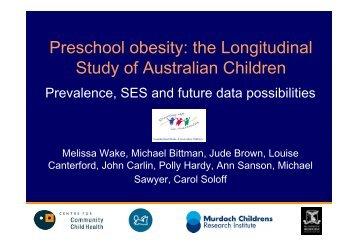 Preschool obesity - Centre for Longitudinal Studies