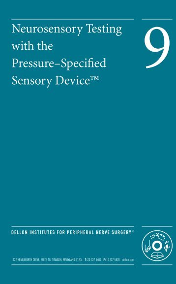 Neurosensory Testing with the Pressure–Specified Sensory Device™
