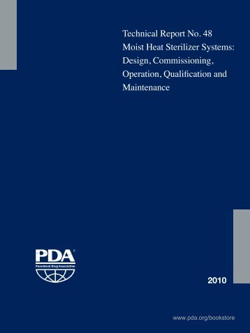 Technical Report No. 48 Moist Heat Sterilizer Systems: Design ...