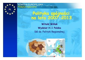Polityka spójności na lata 2007-2013
