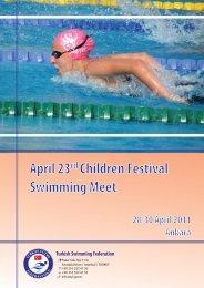 April 23rd Children Festival Swimming Meet