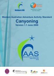 Canyoning - Outdoors WA